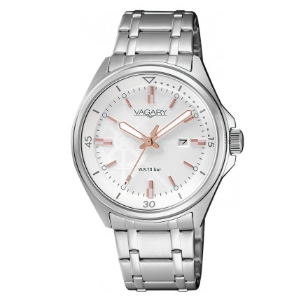 VAGARY by CITIZEN AQUA39 QUADRANTE BIANCO