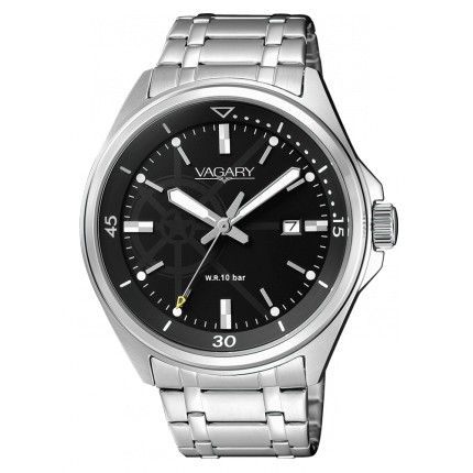 VAGARY by CITIZEN AQUA 39 NERO BRACCIALATO