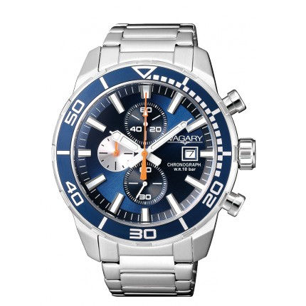 VAGARY by CITIZEN AQUA39 CRONO BLU METALLO