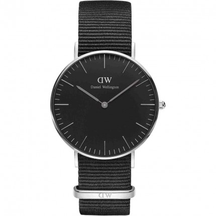 DANIEL WELLINGTON CLASSIC BLACK CORNWALL 36mm ACCIAIO