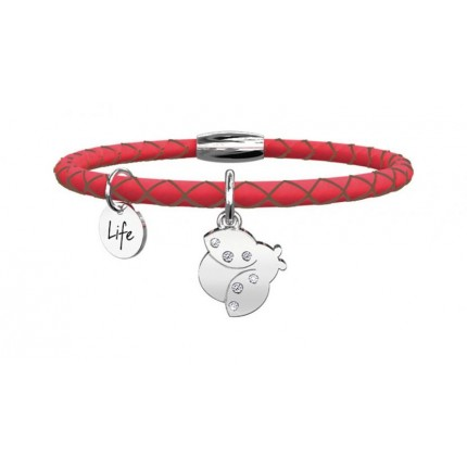 KIDULT Animal Planet – Bracciale - Coccinella - Fortuna