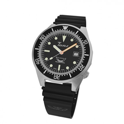 SQUALE 1521 PROFESSIONAL 50atm BLASTED BLACK