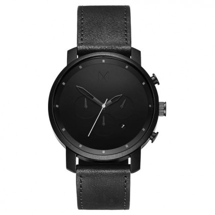 MVMT CHRONO BLACK LEATHER