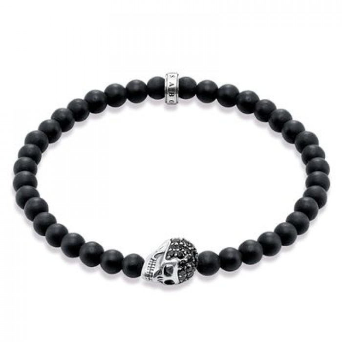 Bracciale Rebel at Heart sfere nere