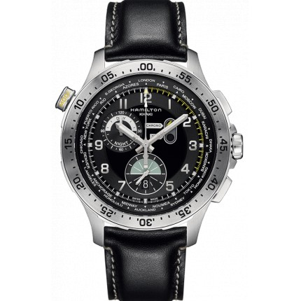 WORLDTIMER CHRONO HAMILTON KHAKI AVIATION