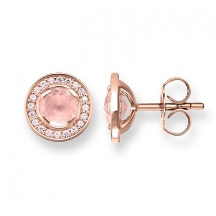 Thomas Sabo Orecchino Light of Luna Quarzo Rosa