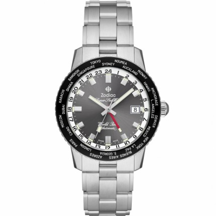 ZODIAC SUPER SEA WOLF GMT WORLD TIME