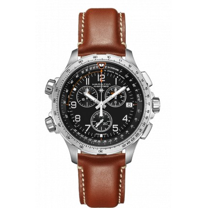 HAMILTON X-WIND CHRONO QUARTZ GMT KHAKI AVIATION